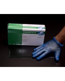 Extra Large Blue Vinyl Gloves