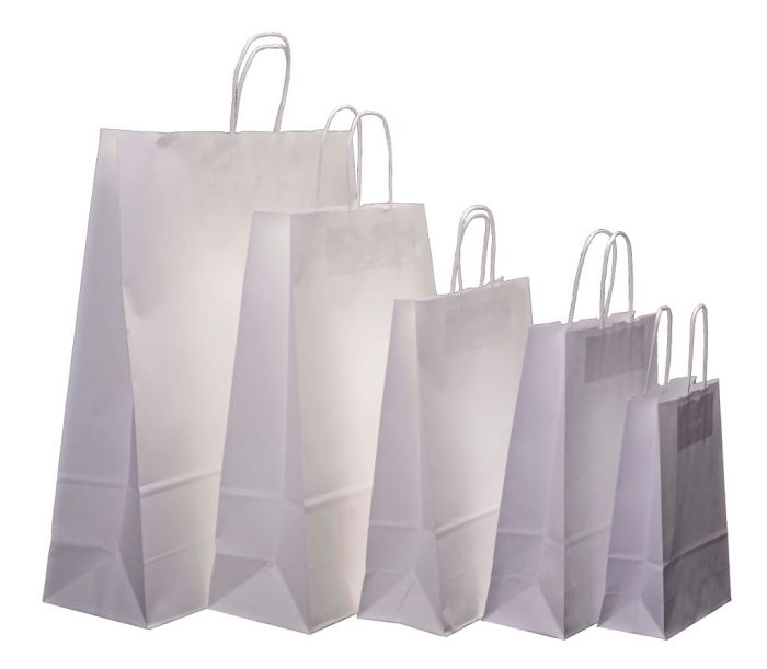 ce3deec27f Extra Large White Kraft Twist Handle Carrier Bags