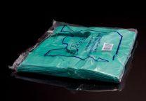 Jumbo Green Vest Carrier Bag - Jade