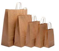 Jewellery Brown Kraft Twist Handle Carrier Bags